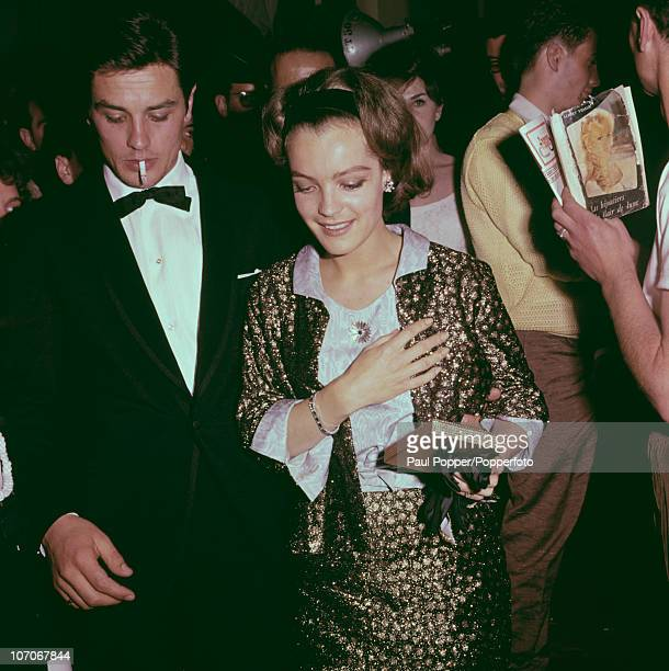 French actor Alain Delon and Austrian actress Romy Schneider 1938 1982 1962