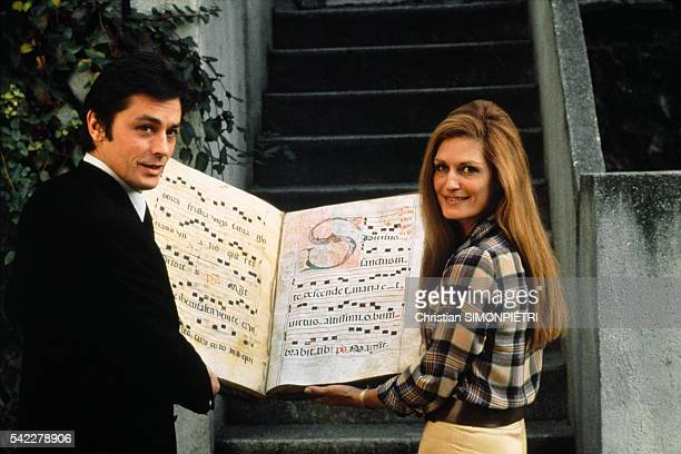 French actor Alain Delon and Egyptian-born Italian singer Dalida.