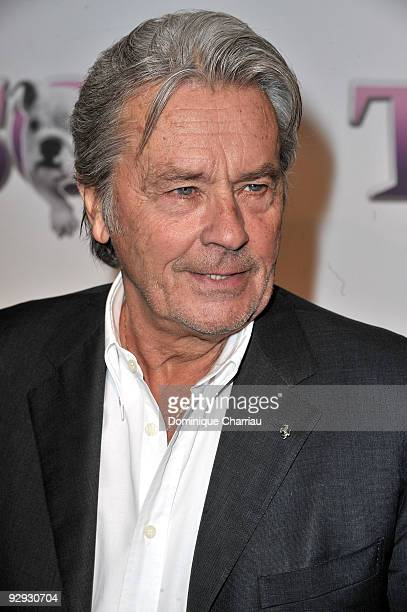 French Actor Alain Delon attends the premiere of the directors Claude Berry and Francois Dupeyron's film 'Tresor' at Cinema Gaumont Capucine on...