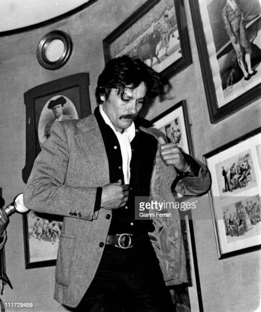 French actor Alain Delon in a visit to Madrid Madrid Spain