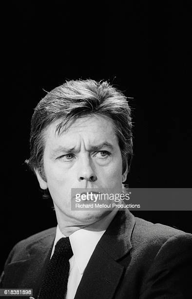 French actor Alain Delon is invited to take part in a sports television program in November 1981