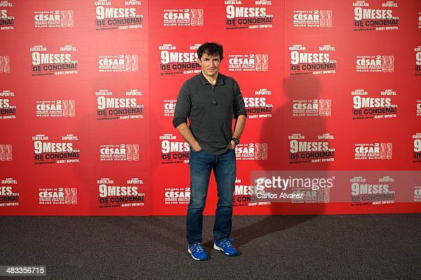 French actor and director Albert Dupontel attends the '9 Mois Ferme' photocall at the Santo Mauro Hotel on April 8 2014 in Madrid Spain
