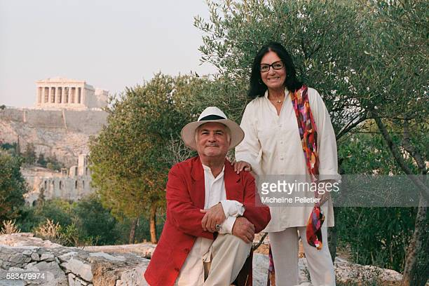 French Actor and Director JeanClaude Brialy and Greek Singer Nana Mouskouri