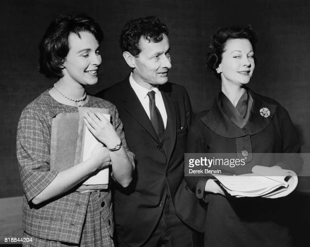 French actor and director JeanLouis Barrault with actresses Claire Bloom and Vivien Leigh at the Lyric Theatre in London during rehearsals for the...