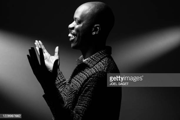 French actor and director Jean-Pascal Zadi poses for a photo session during the 3rd edition of the Cannes International Series Festival in Cannes,...