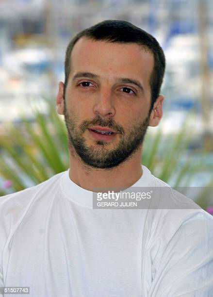French actor and director Mathieu Kassovitz, member of the 54th Cannes Film Festival jury, poses at the Palais des Festivals during the traditional...
