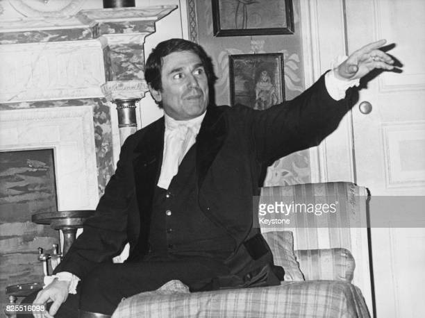 French actor and director Robert Hossein directs and stars in the play 'Les Hauts de Hurlevent' from the novel 'Wuthering Heights' by Emily Bronte at...
