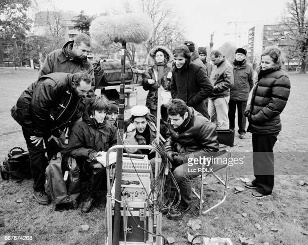 French actor and director Yvan Attal on the set of his film Ma Femme est une Actrice