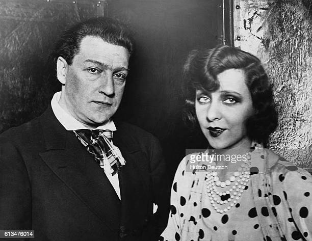 French actor and dramatist Sacha Guitry and his wife the French actress Yvonne Printemps 1934