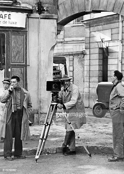 French actor and film director Jacques Tati looks through the camera while shooting his 1958 movie 'Mon Oncle' Jacques Tatischeff was one of the...