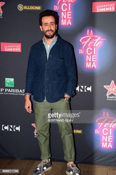 French actor and filmmaker Jonathan Cohen poses during a photocall for the press launch of the 33rd edition of the Fete du Cinema at the Cite du...