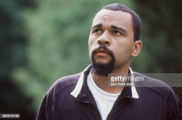 """French actor and humorist Dieudonné on the set of """"Le Clone"""" by Italian director and screenwriter Fabio Conversi."""