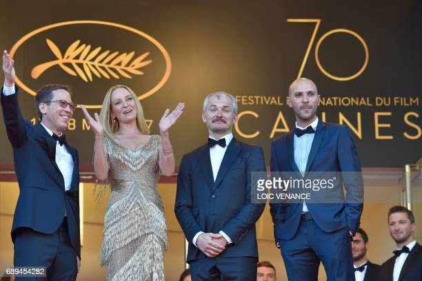 French actor and member of the Un Certain Regard jury Reda Kateb US actress and President of the Un Certain Regard jury Uma Thurman Czech artistic...
