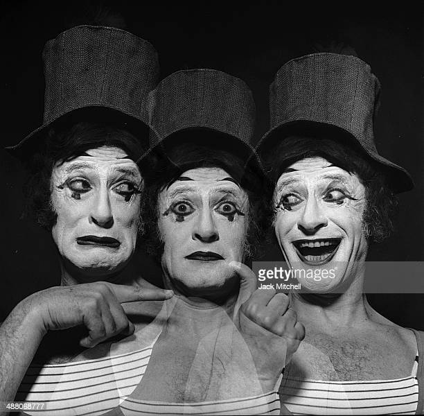 French actor and mime Marcel Marceau as 'Bip the Clown' in New York City March 1973