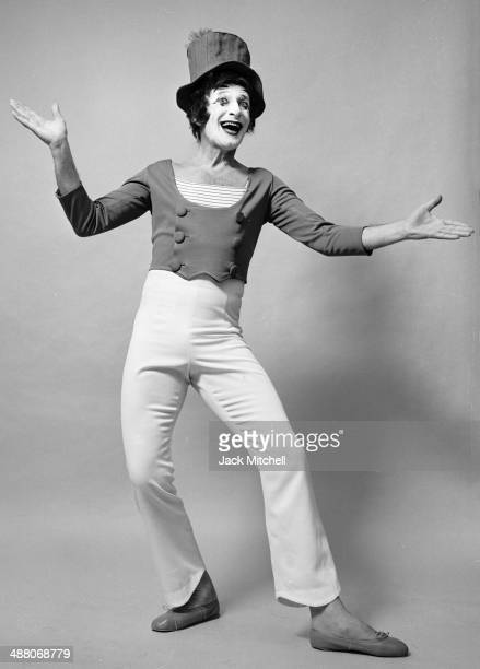 French actor and mime Marcel Marceau as 'Bip the Clown' in New York City, March 1973.