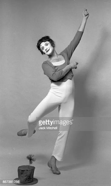 """French actor and mime Marcel Marceau as """"Bip the Clown"""" in New York City, March 1973. ."""