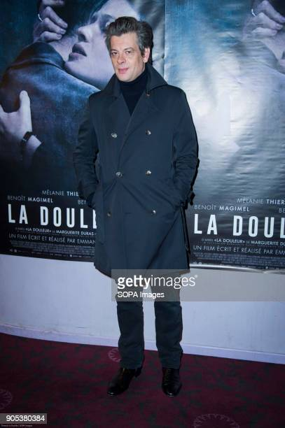 French actor and singer Benjamin Biolay at the premiere of 'La Douleur' at the cinema Gaumont Opera in Paris