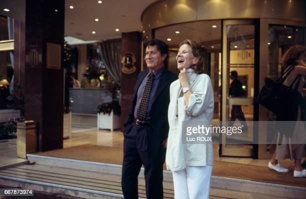 French actor and singer Jacques Dutronc and actress and director Nicole Garcia on the set of Garcia's film Place Vendome