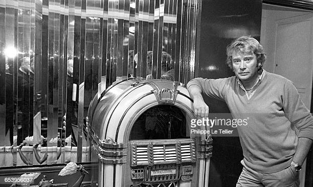 French actor and singer Johnny Hallyday in Paris, France, 12/1980.