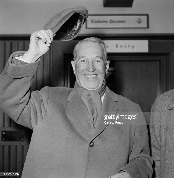 French actor and singer Maurice Chevalier arrives at London Airport 9th April 1963 He is in the capital to put on a oneman show entitled 'An Evening...