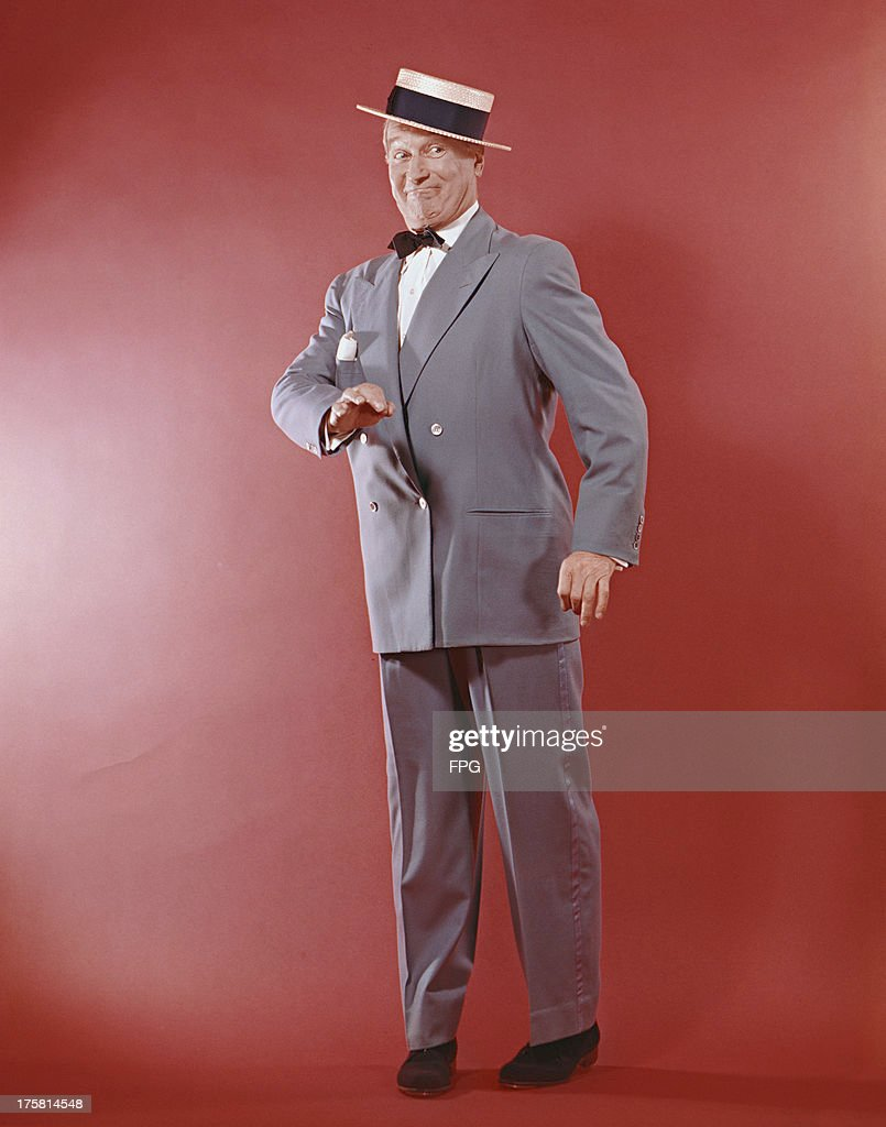 French actor and singer Maurice Chevalier (1888 - 1972), circa 1955.