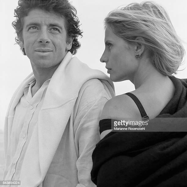 French actor and singer Patrick Bruel and Italian actress Isabella Ferrari during promotion of the film K by French director Alexandre Arcady