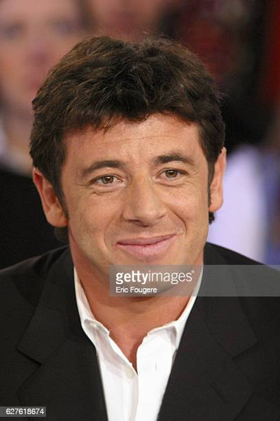 French actor and singer Patrick Bruel during the sunday show 'Vivement Dimanche' presented by Michel Drucker who's guest is the French actress...