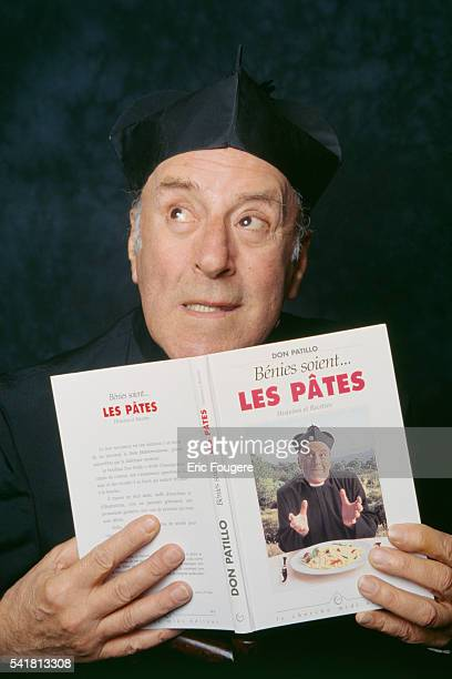 French actor André Aubert famed for his parody of French actor Fernandel in the film 'Don camillo' transformed into 'Don Patillo'