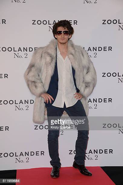 French actor Anthony Sonigo attends the 'Zoolander 2' Paris Premiere at Cinema Gaumont Marignan on February 23 2016 in Paris France