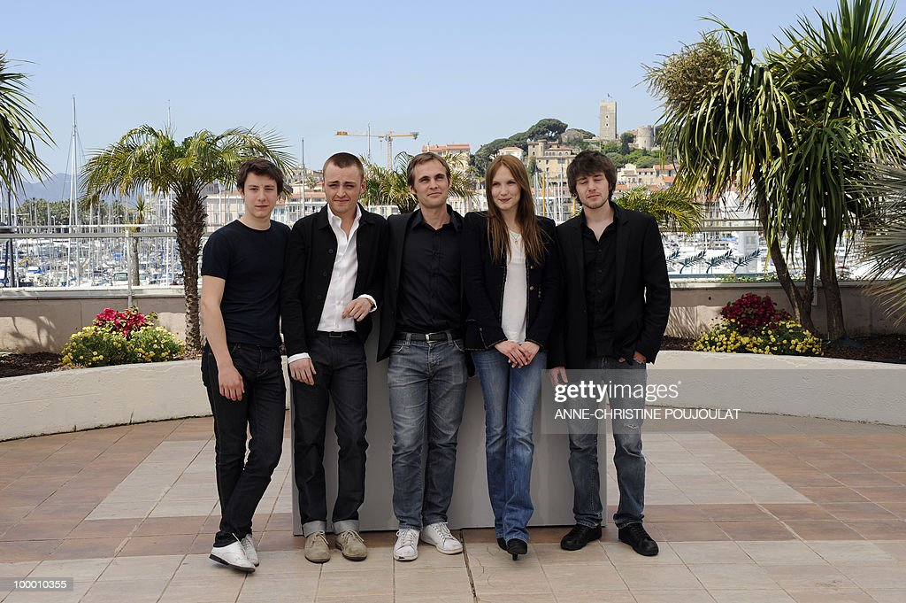 French actor Arthur Mazet, French actor Jules Pelissier, French director Fabrice Gobert, French actress Ana Girardot and French actor Laurent Delbecque pose during the photocall 'Simon Werner a Disparu' (Lights Out) presented in the Un Certain Regard selection at the 63rd Cannes Film Festival on May 20, 2010 in Cannes.