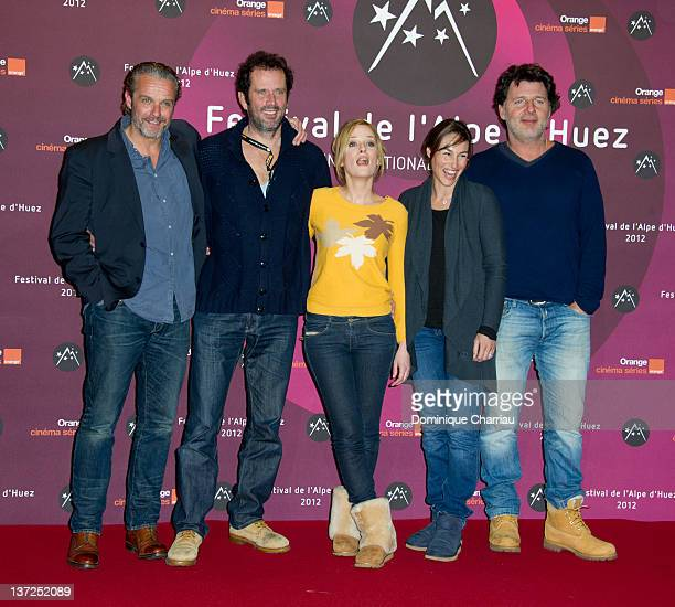 French Actor Batiste Mondino French Actor Christian Vadim French Actress Juile Bernard French Actress Vanessa Demouy and French Actor Philippe...