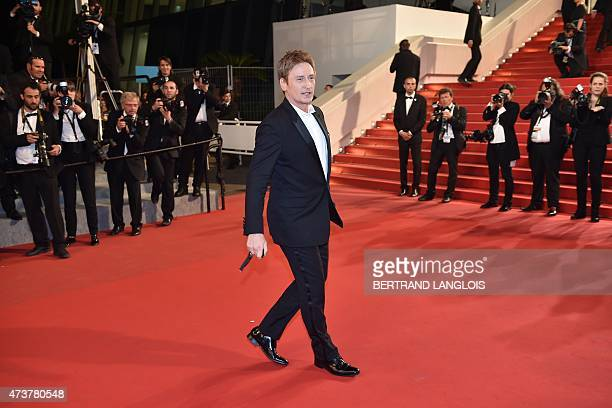 """French actor Benoit Magimel arrives for the screening of the film """"Mon Roi"""" at the 68th Cannes Film Festival in Cannes, southeastern France, on May..."""