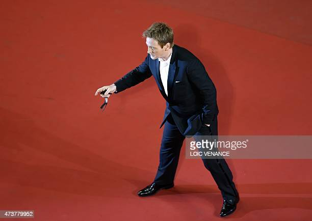 """French actor Benoit Magimel poses as he arrives for the screening of the film """"Mon Roi"""" at the 68th Cannes Film Festival in Cannes, southeastern..."""