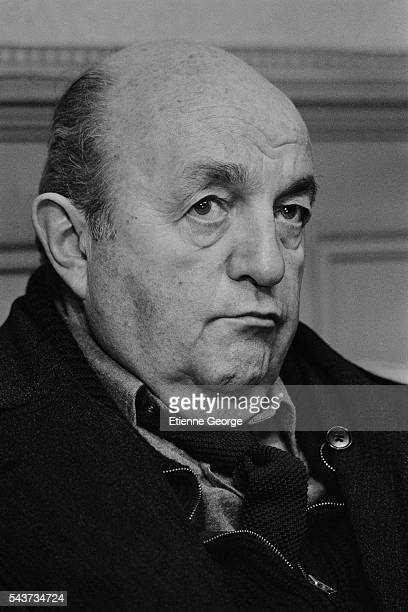 French actor Bernard Blier on the set of the film Serie Noire directed by Alain Corneau and based on American writer Jim Thompson's novel A Hell of a...