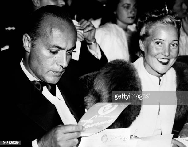 French actor Charles Boyer and his wife British actress Pat Paterson attend the play 'I am different' at the Biltmore Theatre in Los Angeles on...