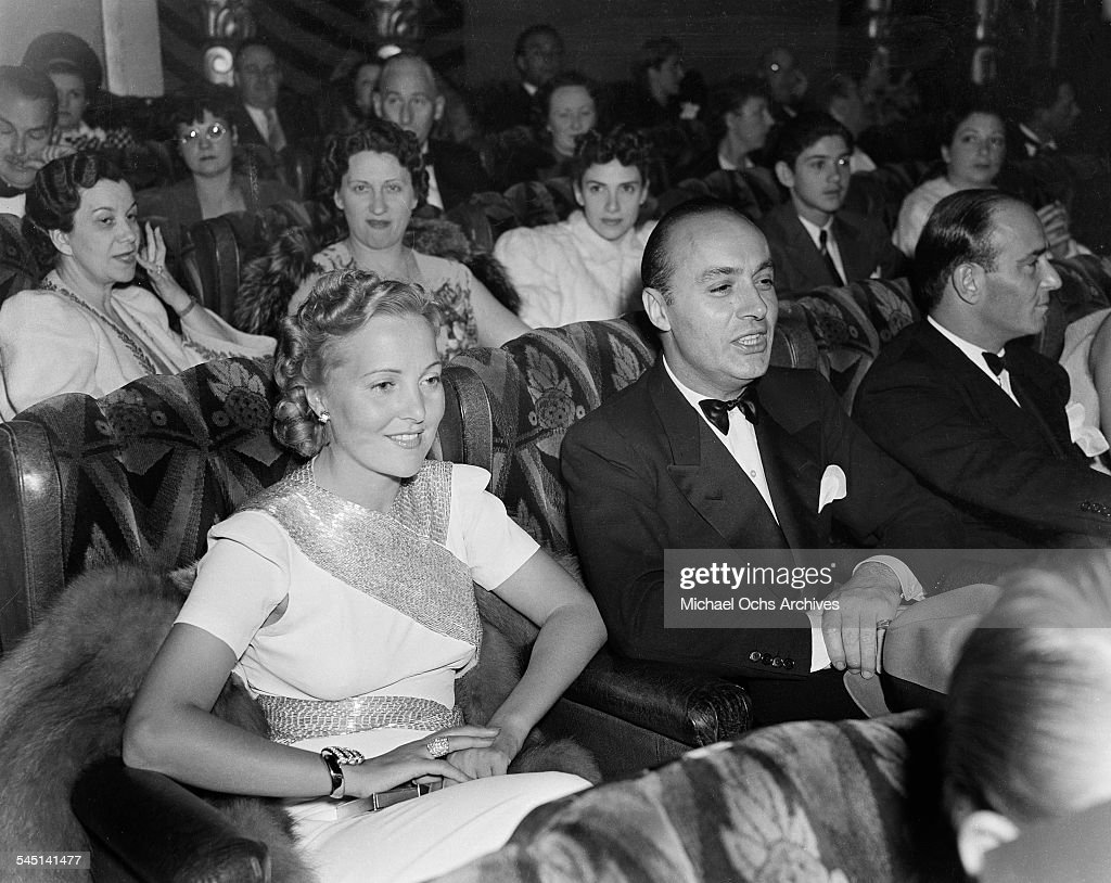 French actor Charles Boyer and wife Pat Paterson attend an event in Los Angeles, California.