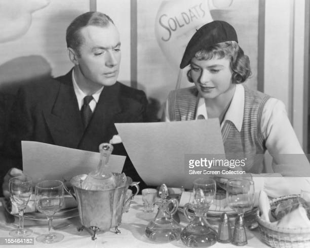 French actor Charles Boyer as Dr Ravic and Swedish actress Ingrid Bergman as Joan Madou in 'Arch Of Triumph' directed by Lewis Milestone 1948
