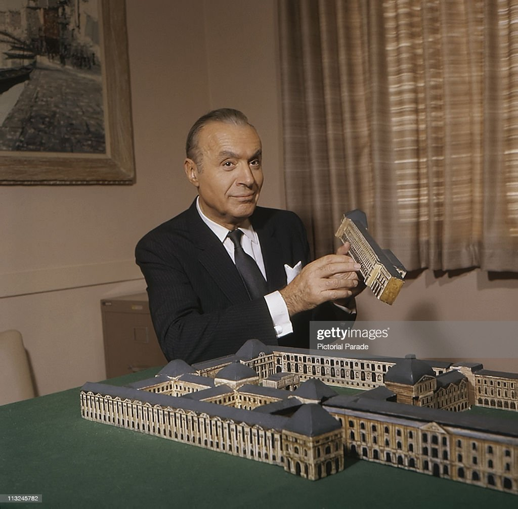 French actor Charles Boyer (1899 Ð 1978) with a model building circa 1965.