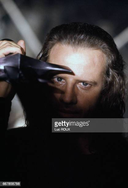 French actor Christophe Lambert on the set of the film Highlander II The Quickening directed by Russell Mulcahy