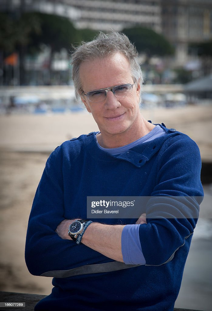 French actor Christophe Lambert poses during a photocall for the tv series'La Source' at MIP TV 2013 on April 8, 2013 in Cannes, France.