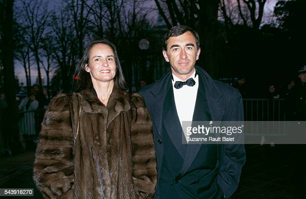 French actor Christophe Malavoy and his wife Isabelle attend the nineth evening of the Molieres awards for French theater