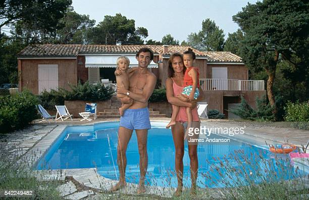 French actor Christophe Malavoy his wife Isabelle and their two children Camille and Romain