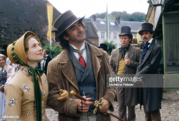 French actor Christophe Malavoy who plays the landowner Rodolphe Boulanger with French actress Isabelle Huppert as Emma Bovary
