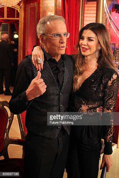 French actor Christopher Lambert seen on the show Dancing with the Stars with Alba Parietti on April 09 2016 in Rome Italy Marco Ravagli / Barcroft...