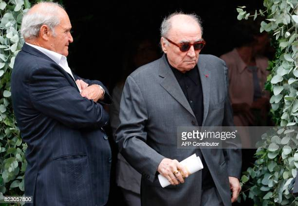 French actor Claude Brasseur attends the funeral ceremony for late French actor Claude Rich at the SaintPierre SaintPaul church in Orgeval...