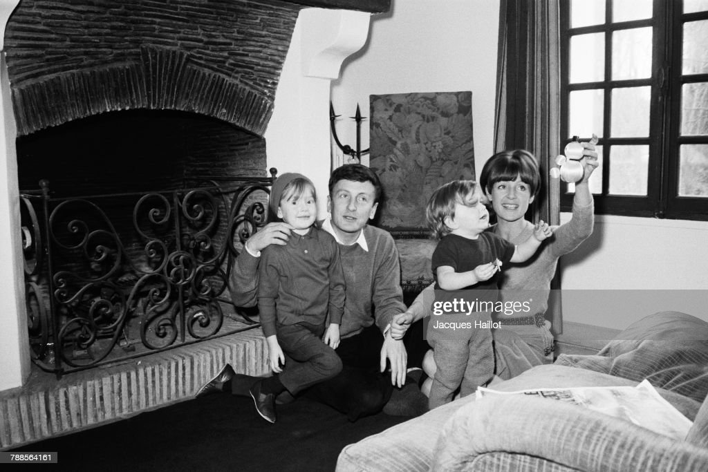 French actor Claude Rich celebrates Christmas with his wife Catherine and their daughters Nathalie and Delphine.