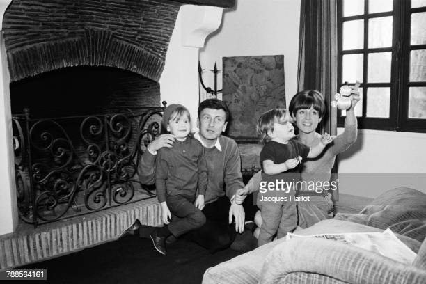 French actor Claude Rich celebrates Christmas with his wife Catherine and their daughters Nathalie and Delphine