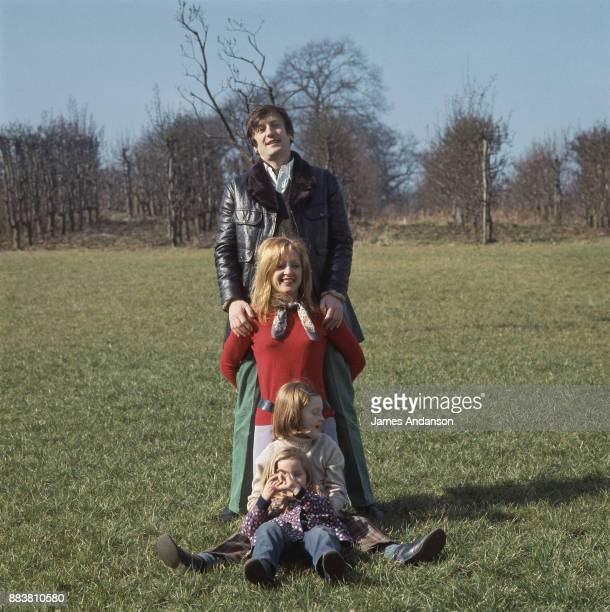French actor Claude Rich with his wife and two daughters at home 5th March 1969