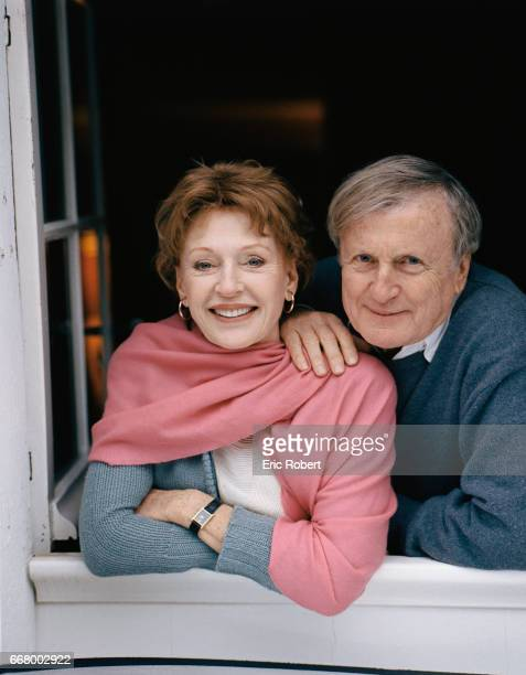 French actor Claude Rich with his wife Catherine at their home in les Yvelines