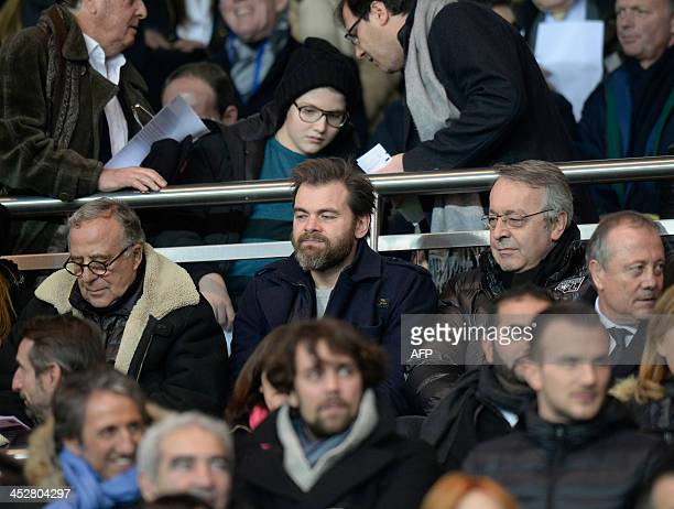French actor Clovis Cornillac looks at the French L1 football match between Paris SaintGermain and Lyon on December 1 at the Parc des Princes stadium...
